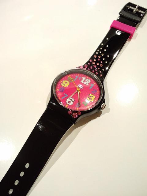 スワロ腕時計<br>『ブラック×ピンク』の画像