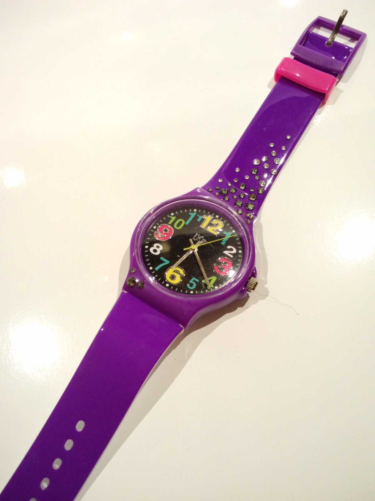 スワロ腕時計<br>『紫×ブラック』の画像