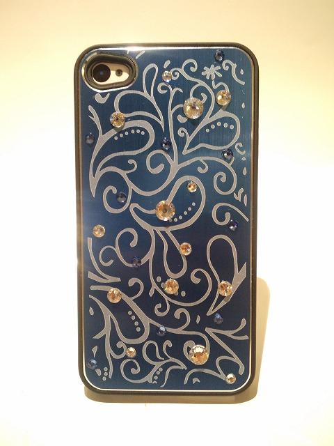iPhone4 (4S)用アルミケース<br>『ブルー』の画像