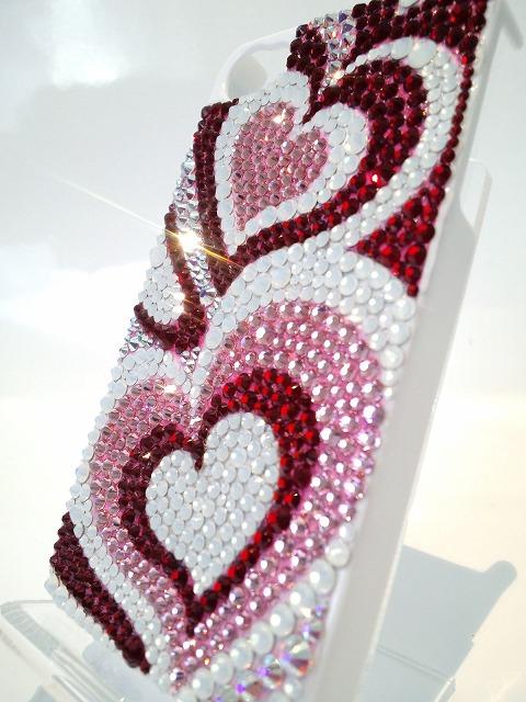 iPhone4 (4S)用デコケース『ピンク プッチ柄』アップの写真